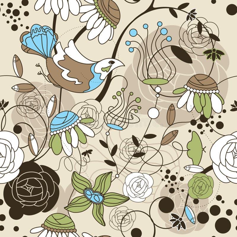 безшовное предпосылки милое флористическое бесплатная иллюстрация