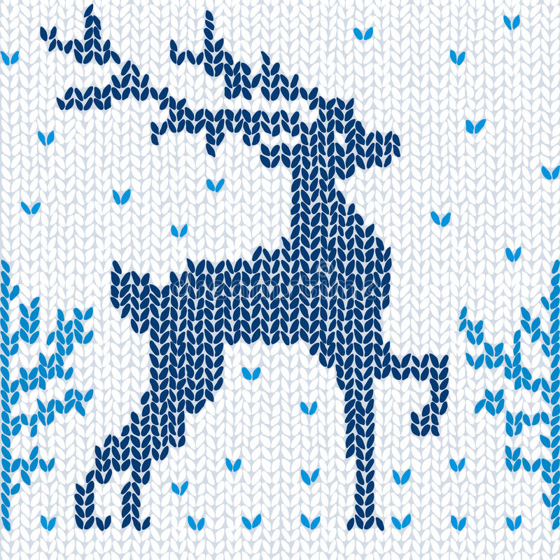 безшовное предпосылки связанное оленями иллюстрация штока