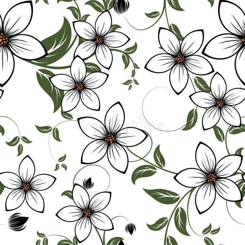 безшовное предпосылки флористическое бесплатная иллюстрация
