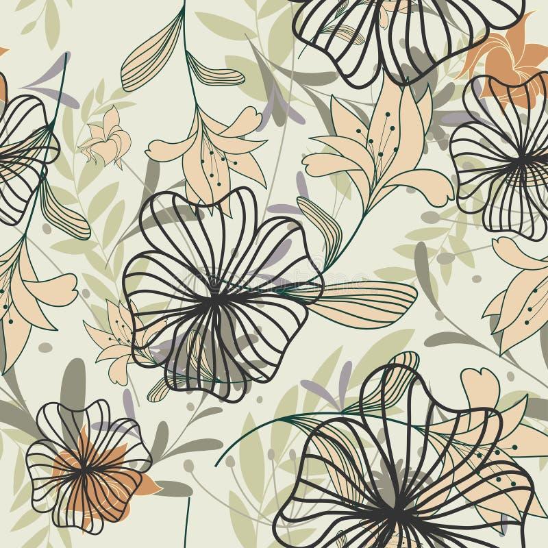 безшовное предпосылки флористическое иллюстрация штока