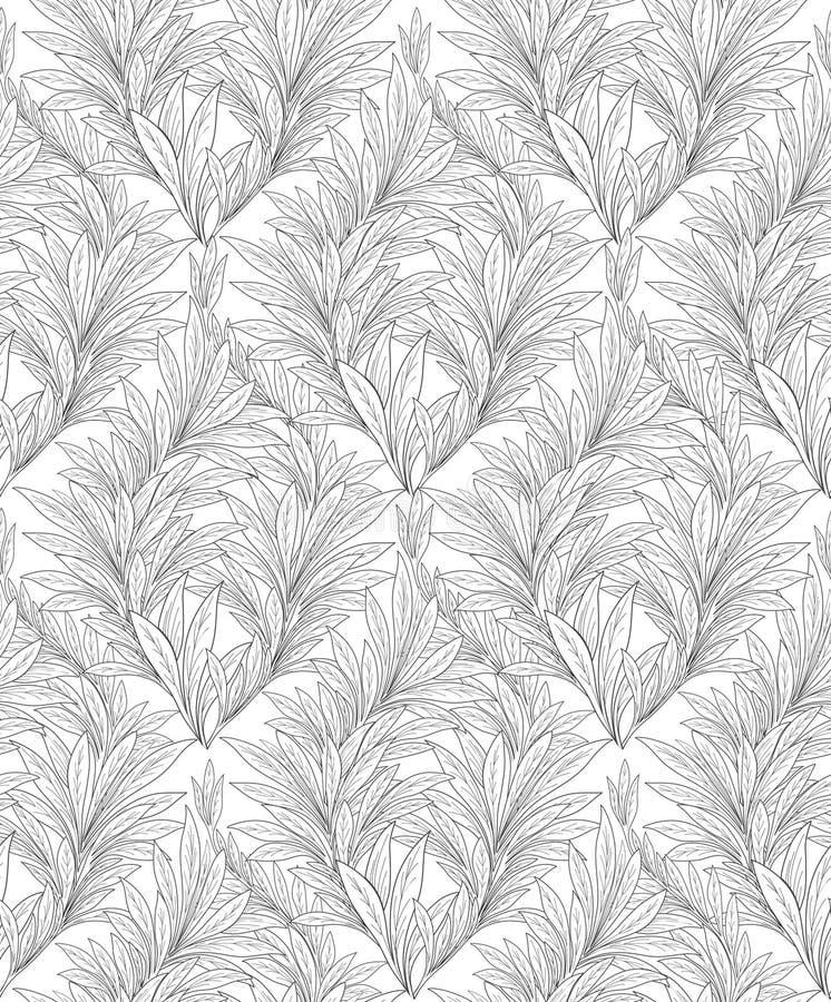 безшовное предпосылки флористическое Декоративная картина разрешения Абстрактный o иллюстрация штока