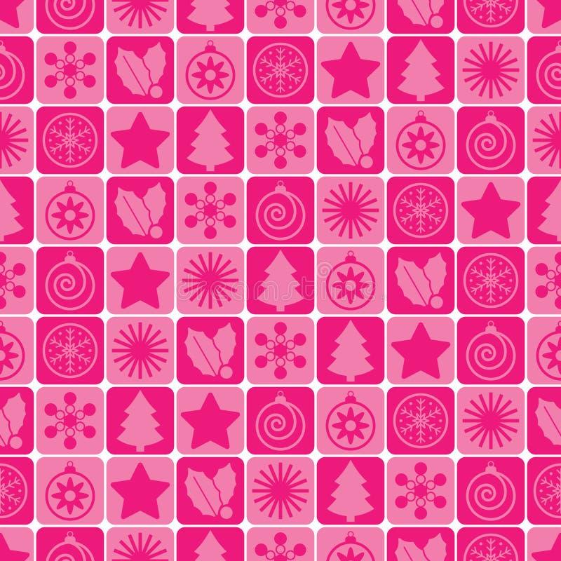 безшовное рождества розовое бесплатная иллюстрация
