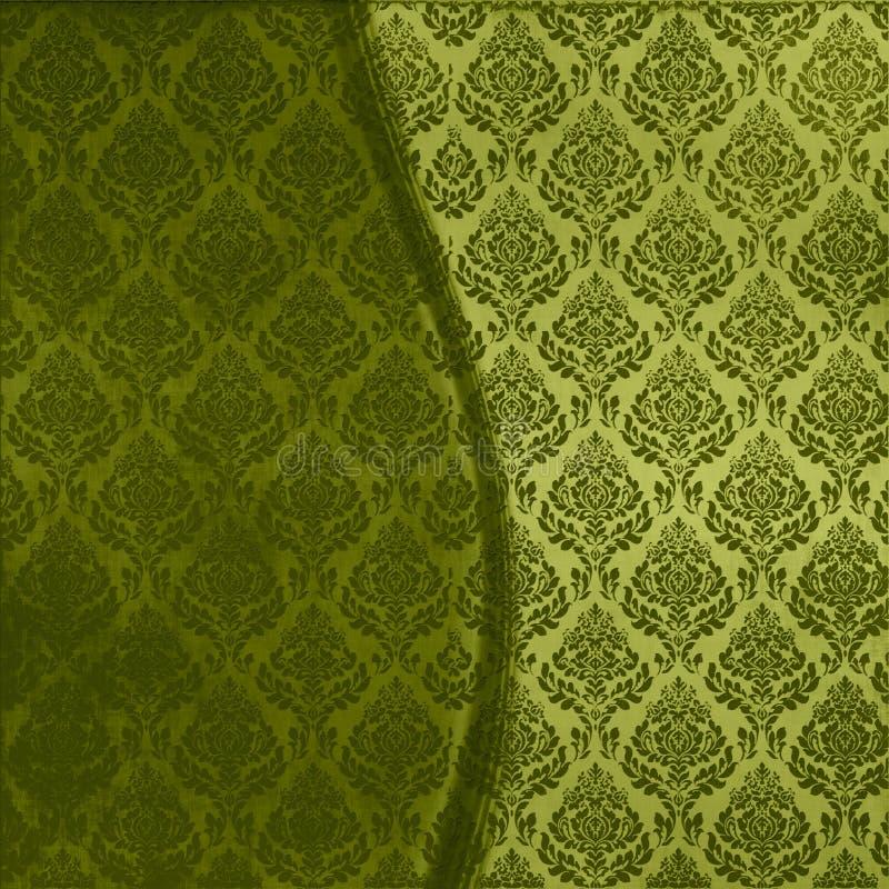 безшовное штофа зеленое бесплатная иллюстрация