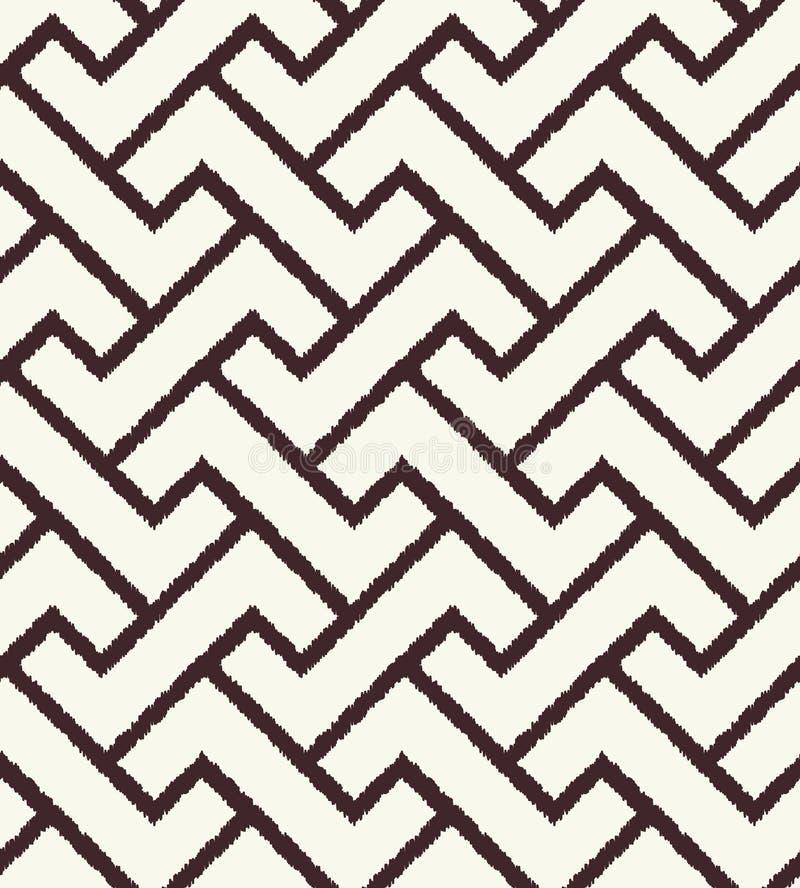 Безшовной геометрической картина текстурированная сеткой иллюстрация вектора