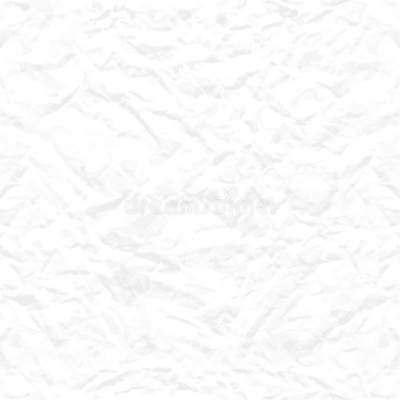 Безшовной текстура скомканная белизной бумажная бесплатная иллюстрация