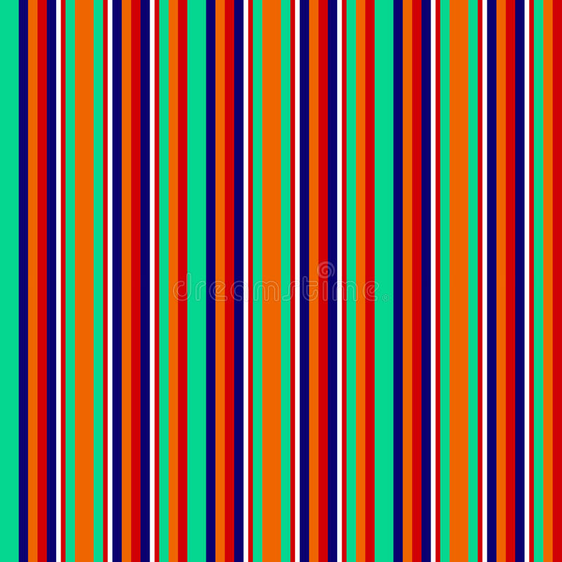 Безшовные абстрактные геометрические нашивки vector предпосылка с красочными вертикальными линиями белизной бирюзы оранжевой сине бесплатная иллюстрация