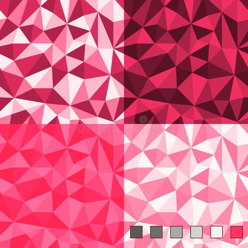 Безшовные абстрактные полигональные картины предпосылки бесплатная иллюстрация
