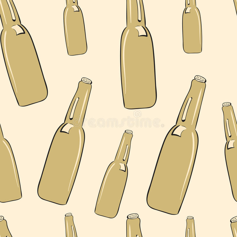 Безшовные бутылки иллюстрация штока