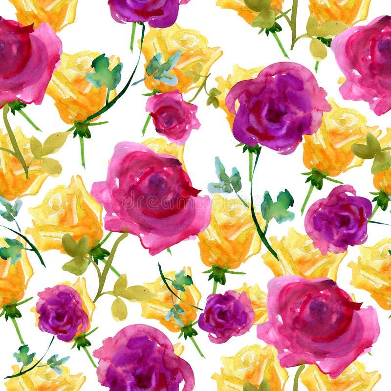 Предпосылка с розами бесплатная иллюстрация