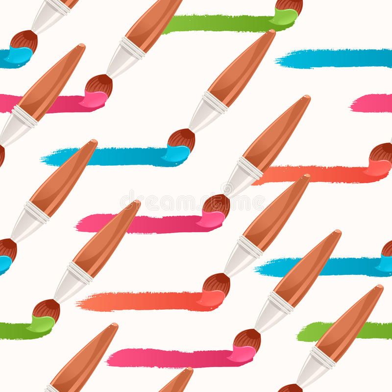 Download Безшовные красочные горизонтальные следы Иллюстрация вектора - иллюстрации насчитывающей backhoe, художничества: 37929390