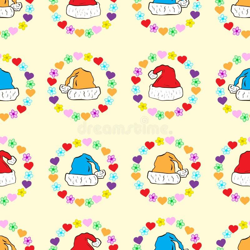 Безшовные крышки рождества в рамке иллюстрация штока