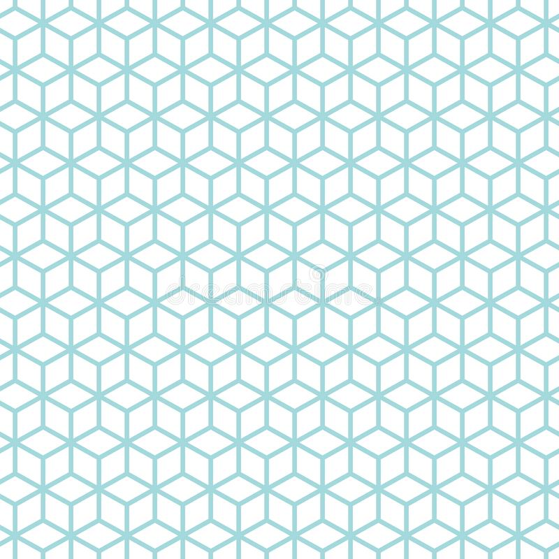 Безшовные кубы конспекта картины голубые и белые иллюстрация штока