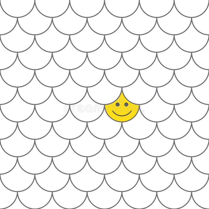Безшовные масштабы рыб картины с усмехаясь счастливой стороной Японский традиционный орнамент r бесплатная иллюстрация