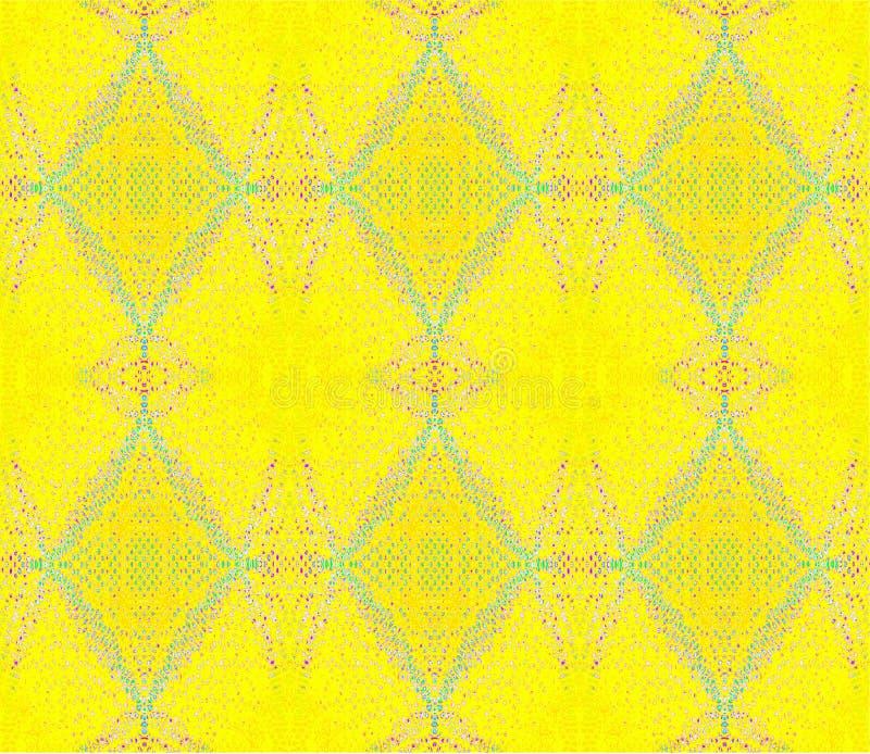 Безшовные многоточия и синь бирюзы ромбовидного узора желтая розовая фиолетовая иллюстрация вектора