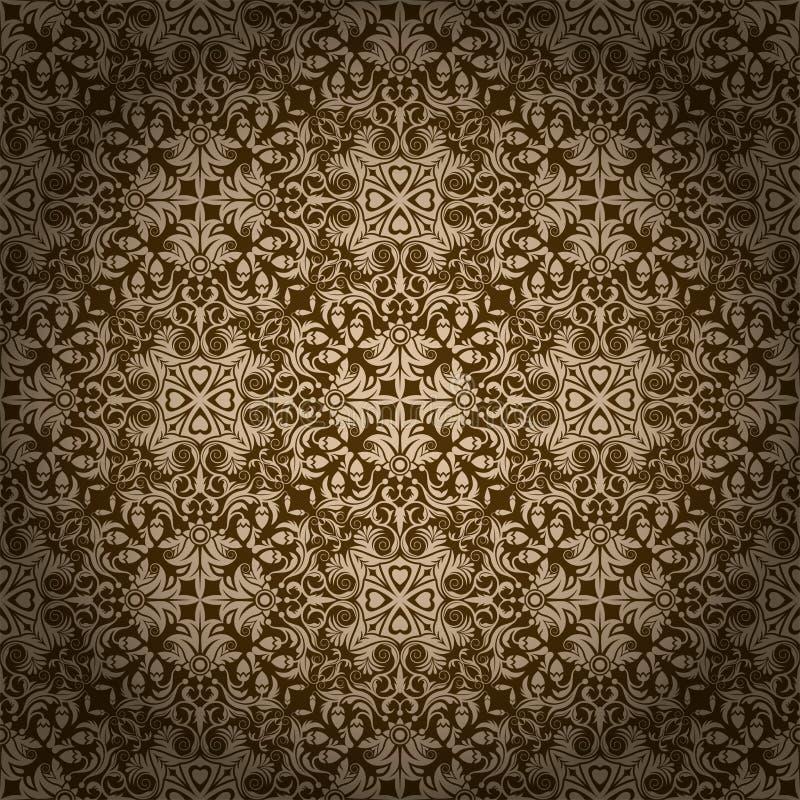 Безшовные обои II цветочного узора иллюстрация вектора
