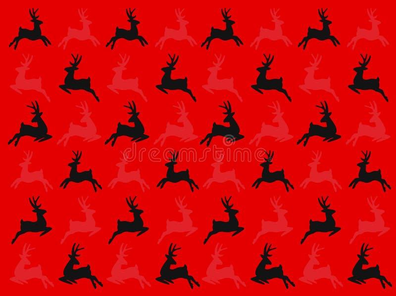 Безшовные олени картина вектора, рождество зимы и С Новым Годом! день стоковое изображение