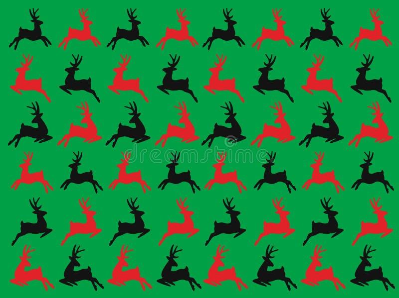 Безшовные олени картина вектора, рождество зимы и С Новым Годом! день стоковая фотография