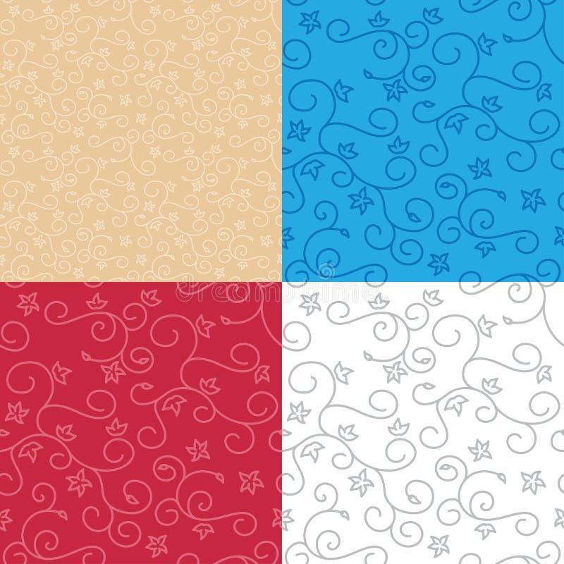 Безшовные предпосылки с текстурой свирли - комплектом вектора картин иллюстрация штока