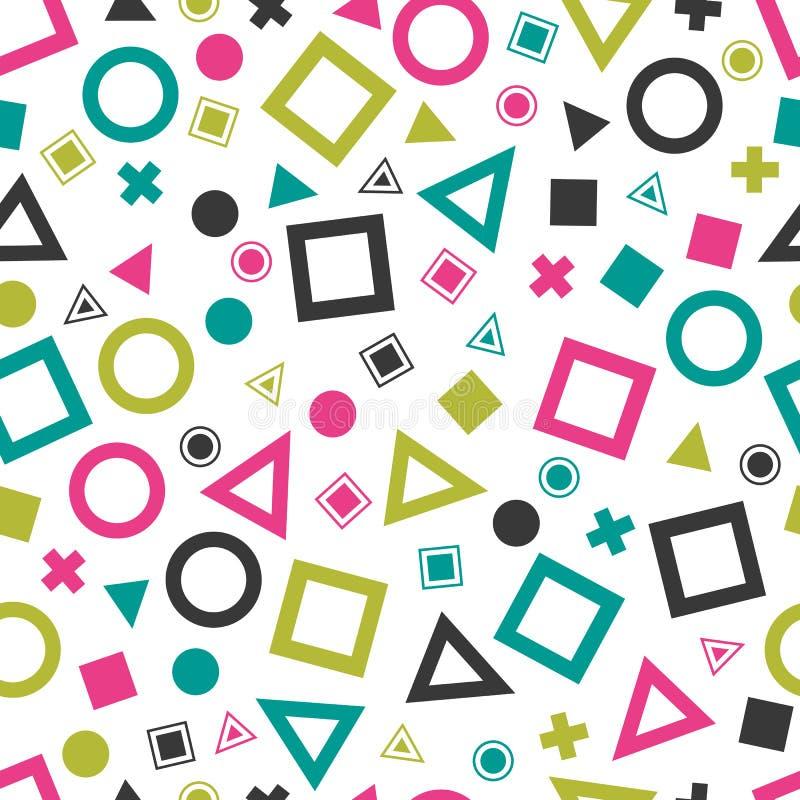 Безшовные примитивные геометрические картины для ткани и открыток бесплатная иллюстрация