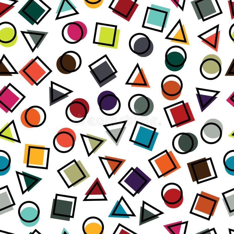 Безшовные примитивные геометрические картины для ткани и открыток иллюстрация вектора