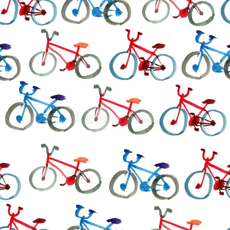 Безшовные простые дети картины и изолированный велосипед ребенк бесплатная иллюстрация