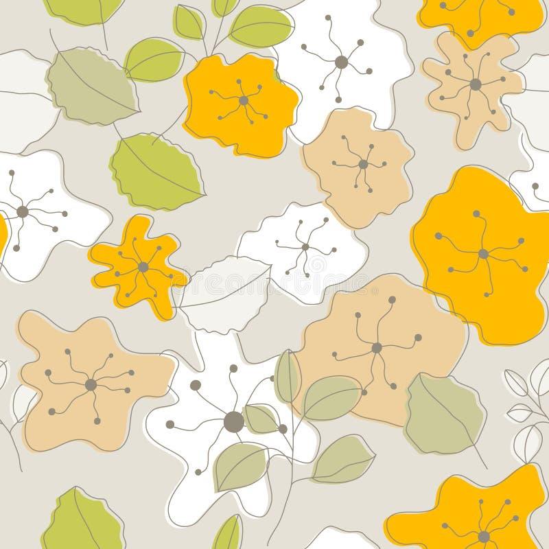 Безшовные цветки иллюстрация штока
