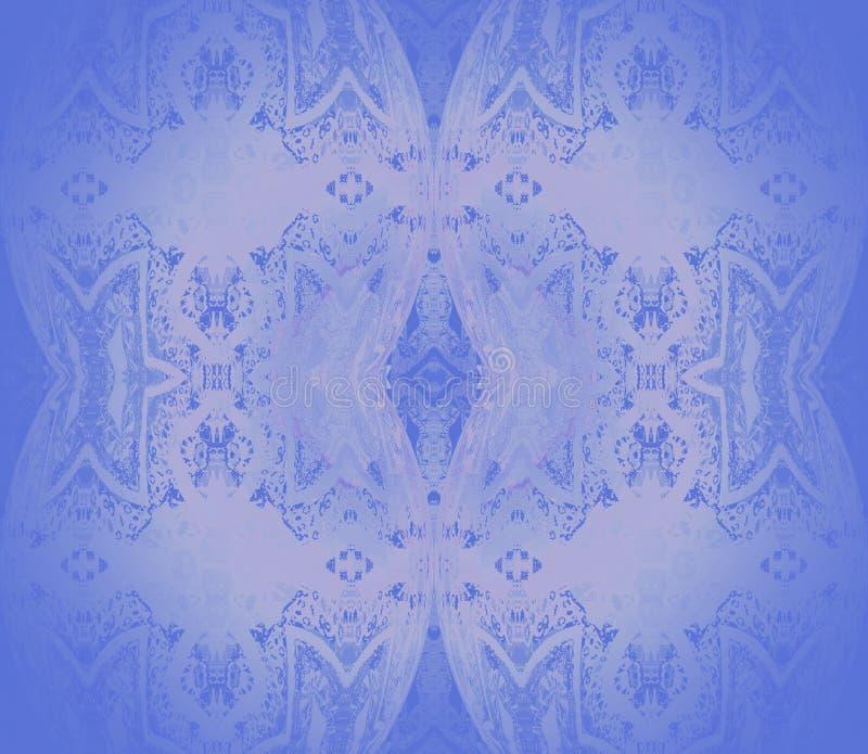 Безшовные чувствительные многоточия и ромбовидный узор в пурпуре и запачканные тени лаванды центризованные и иллюстрация вектора