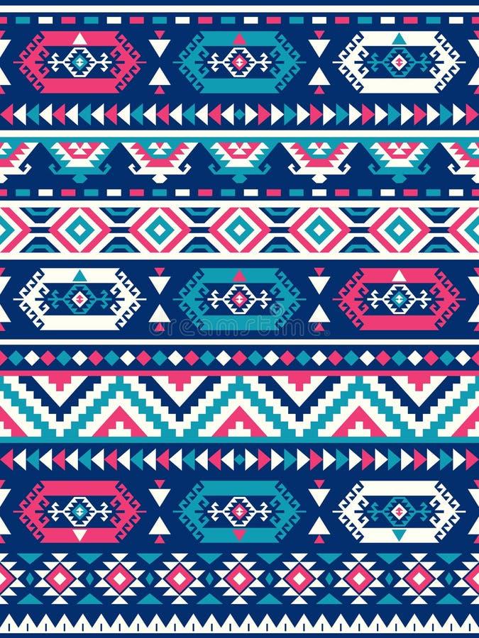 Безшовные этнические текстуры картины Розовые и голубые цвета бесплатная иллюстрация