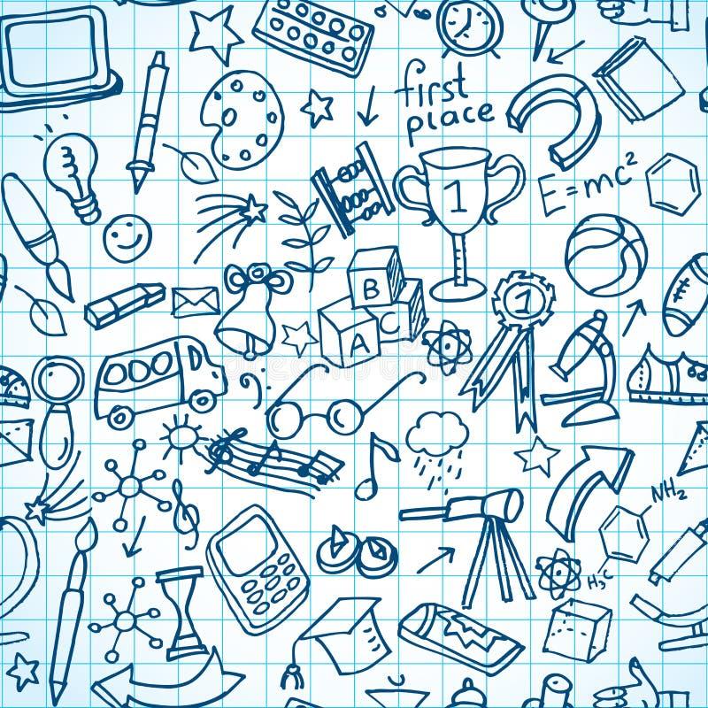 Безшовные doodles hool  sÑ бесплатная иллюстрация