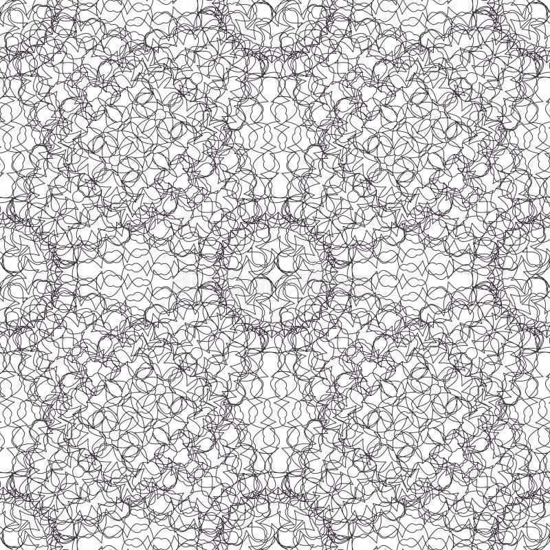 Безшовный абстрактный орнамент guilloche картины предпосылки иллюстрация штока