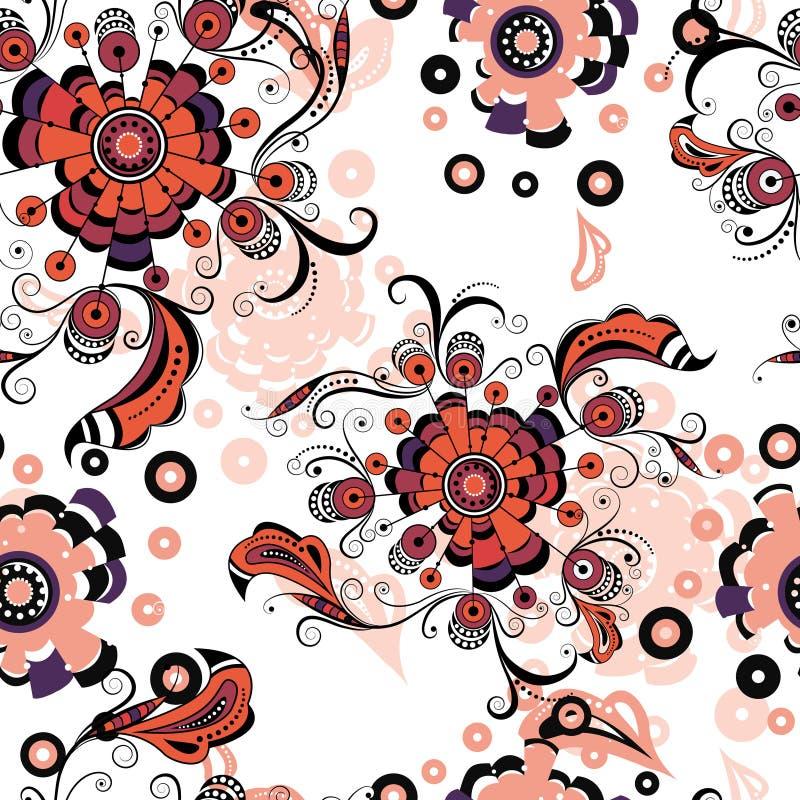 Безшовный абстрактный цветочный узор 3 бесплатная иллюстрация