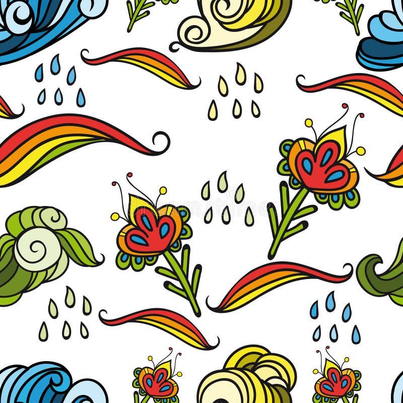 Безшовный абстрактный цветочный узор 4 иллюстрация вектора
