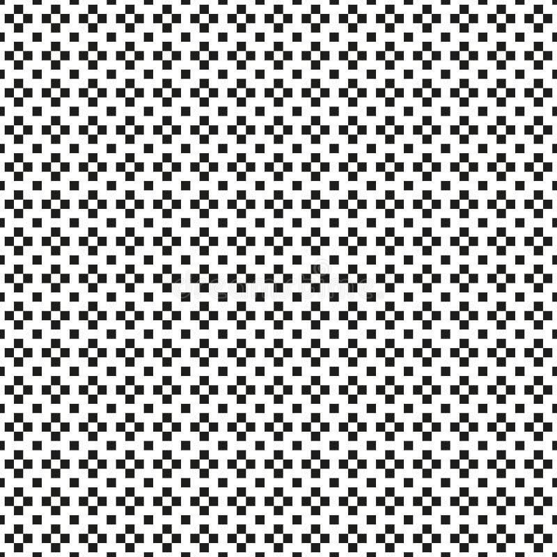 Безшовный абстрактный monochrome плюс или перекрестная картина с пропусканием иллюстрация вектора