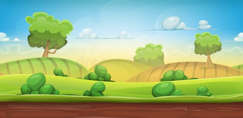 Безшовный ландшафт страны для игры Ui бесплатная иллюстрация