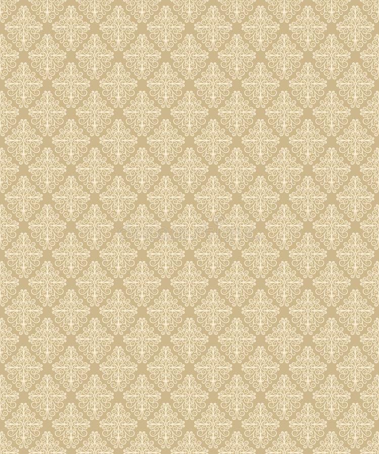 Безшовный бежевый цветочный узор в винтажном стиле резюмируйте предпосылку флористическую иллюстрация вектора