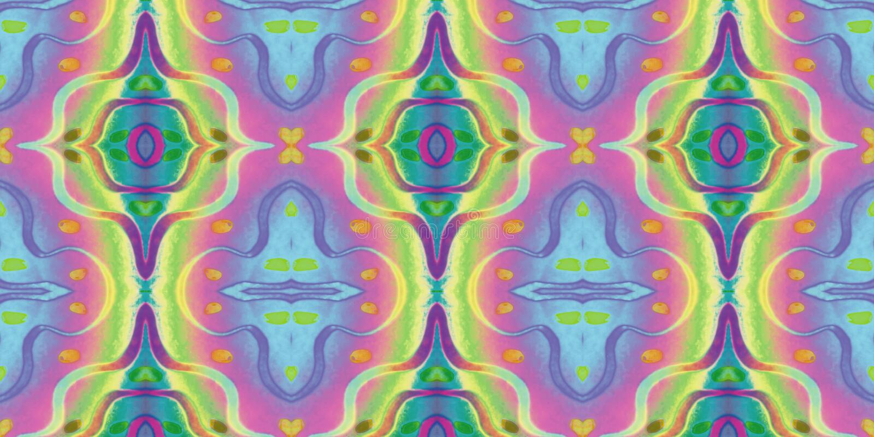 Безшовный бесконечный повторяя яркий орнамент пестротканых геометрических форм иллюстрация вектора