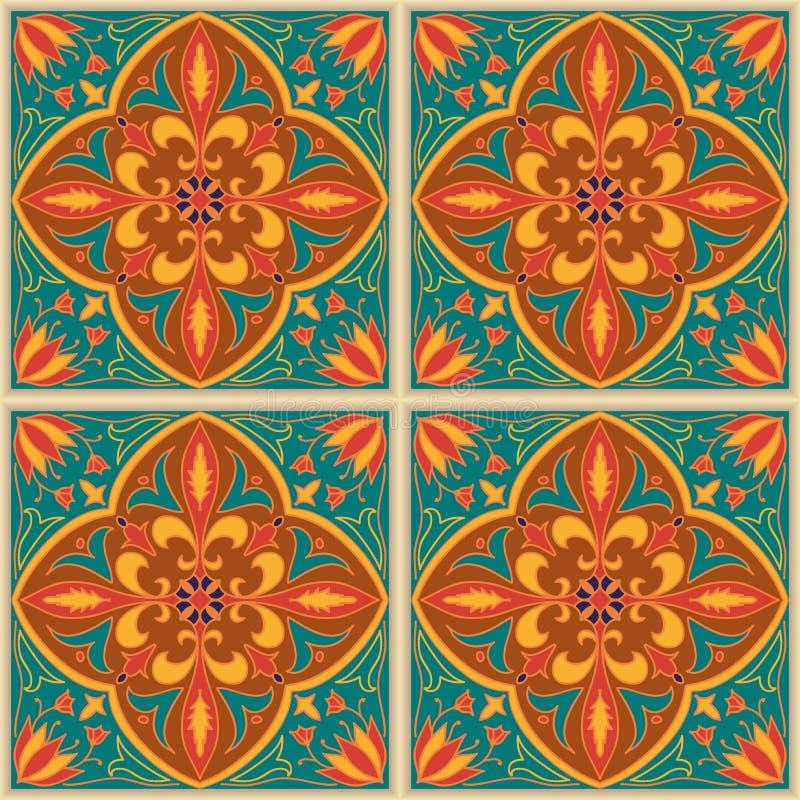 безшовный вектор текстуры Красивая покрашенная картина для дизайна и мода с декоративными элементами бесплатная иллюстрация
