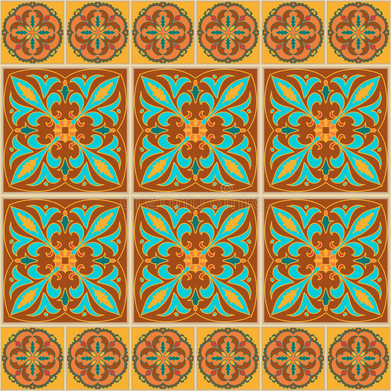 безшовный вектор текстуры Красивая покрашенная картина для дизайна и мода с декоративными элементами иллюстрация вектора