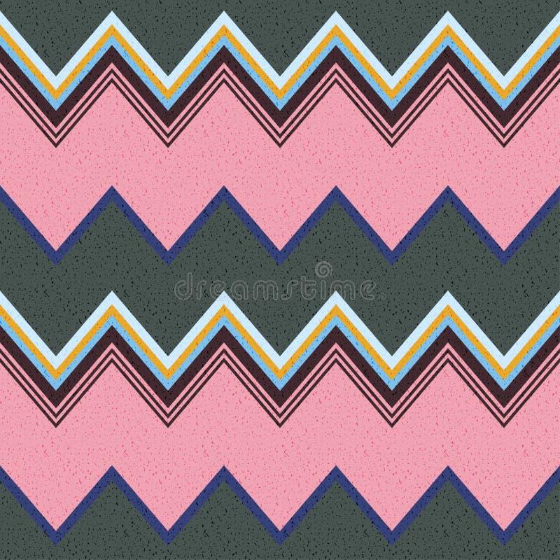 Безшовный зигзаг stripes картина иллюстрация вектора