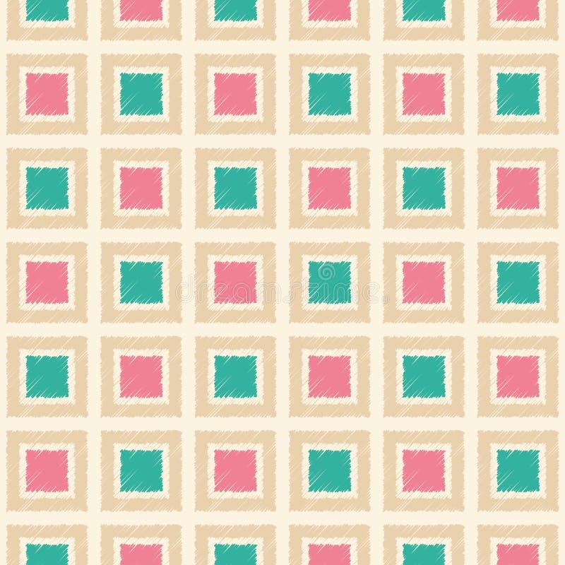 Безшовный квадрат кроет картину черепицей сетки иллюстрация штока