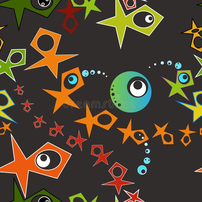 Безшовный конспект картины геометрический с глазами стоковые фото
