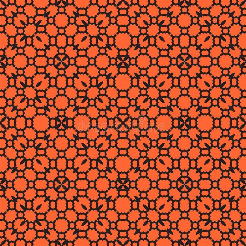 Безшовный конспект картины флористический иллюстрация вектора