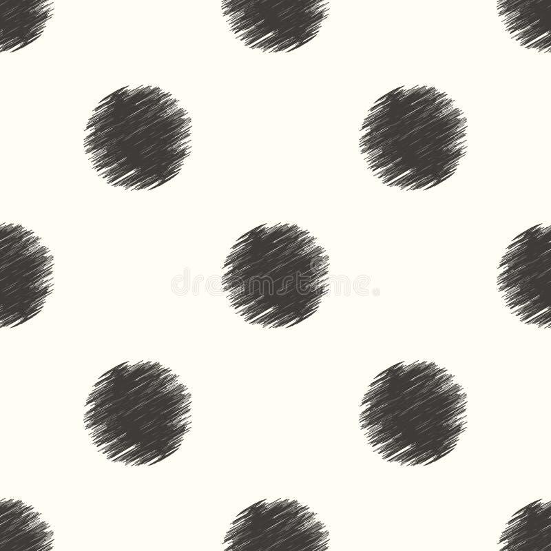Безшовный круг ставит точки предпосылка бесплатная иллюстрация