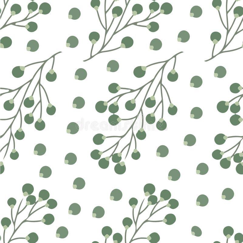 Безшовный малый цветочный узор в векторе стоковое изображение