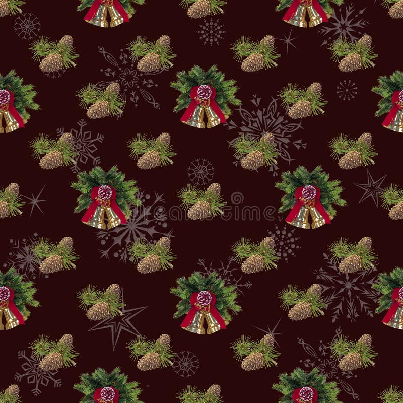 Безшовный, предпосылка Нового Года для украшения праздника maroon стоковое фото rf