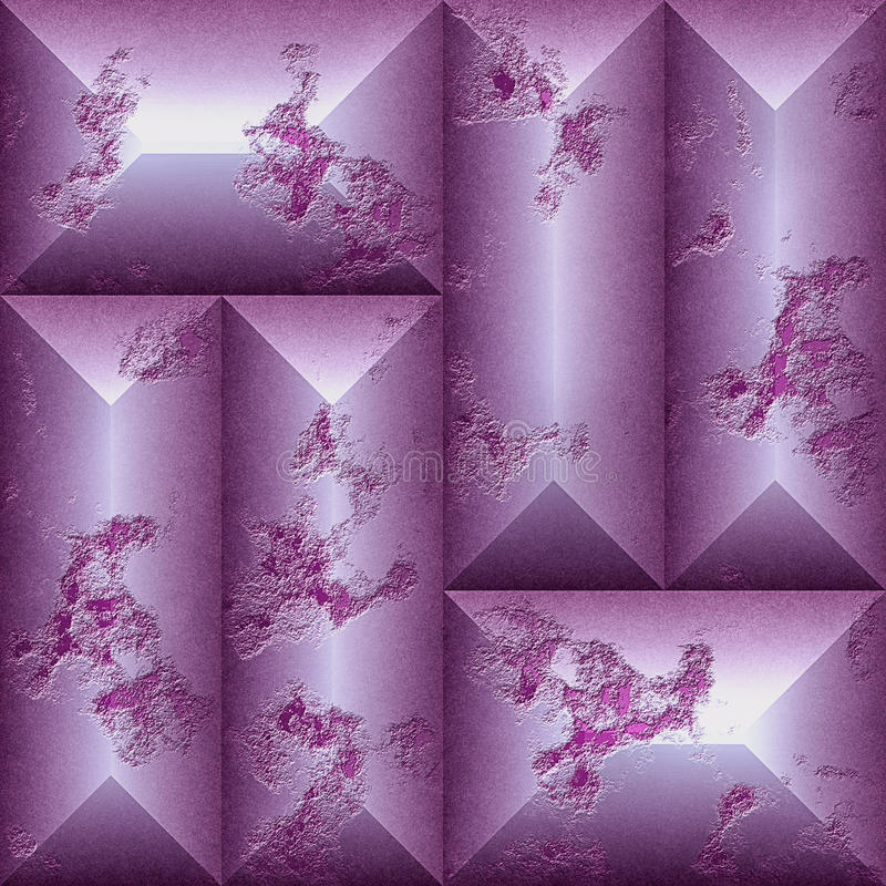 Безшовный сброс поцарапал картину прямоугольных скошенных блоков иллюстрация штока