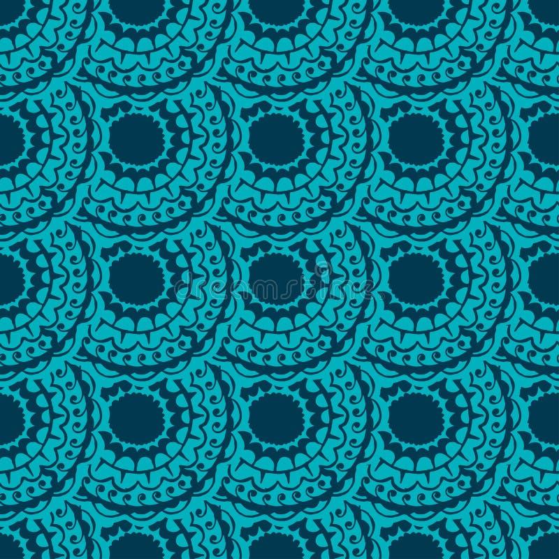 Безшовный с винтажной картиной также вектор иллюстрации притяжки corel иллюстрация штока