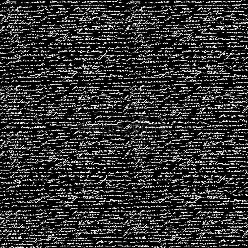 Безшовный текст почерка иллюстрация штока