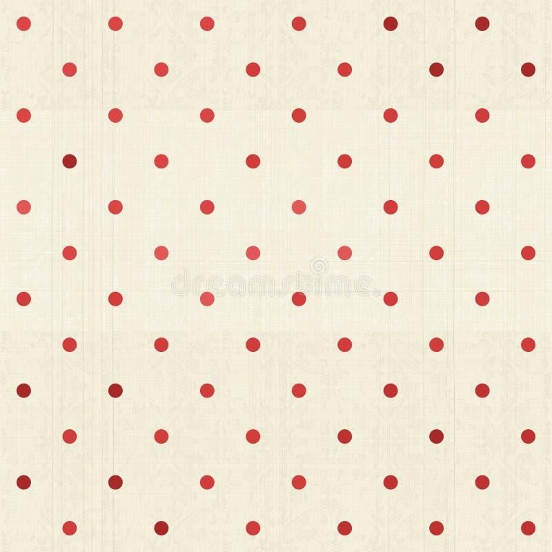 Безшовный точечный растр польки на текстурированной ткани бесплатная иллюстрация