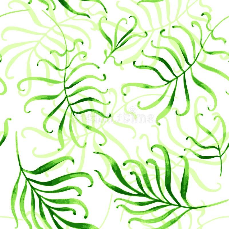 Безшовный тропический орнамент иллюстрация вектора